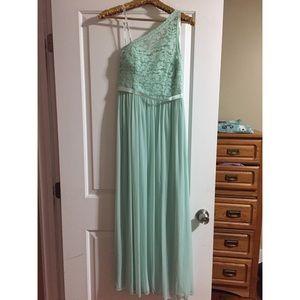 David's Bridal Mint Bridesmaids Dress